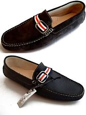 Scarpe Mocassini Uomo Men Shoes Made in Italy Uomini Italiani Leather Loafers Hi