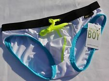 Men's New Andrew Christian Trophy Boy Grimmer Bikini White New With Tags