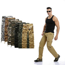 Hot Mens Army Cargo Camo Combat Military Trousers Camouflage Pocket Pants Casual