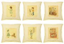 Vietsbay's Kids Vintage Color-1 Printed Khaki Decorative Pillows Case VPLC_02