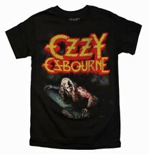 Ozzy Osbourne BATM Vintage-Style Rock Metal Music Men's Black Cotton T-Shirt