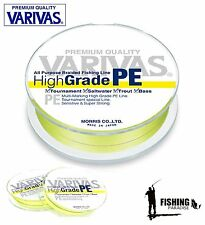 VARIVAS High Grade Yellow PE Braided Line Many Variations 150m / 164 yds