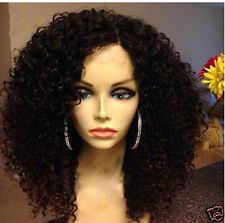 Lily Live curl wavy remy Human Hair Full/Front Lace Wig with baby hair perimeter