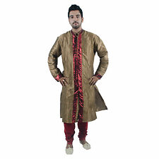 Ethnic Men Indian Designer Bollywood Kurta 2pc Suit