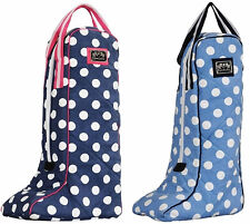 Equine Couture Emma Boot Bag - Chocolate Dots