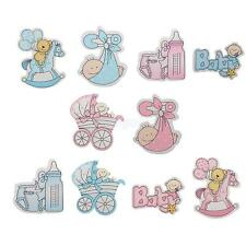 10Pcs Wooden Embellishments Card Making Scrapbooking for Baby Shower Favor Craft