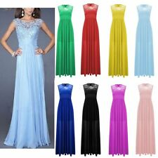 Hot Lace Bridesmaid Prom Ball Gown Formal Evening Party Cocktail Long Maxi Dress