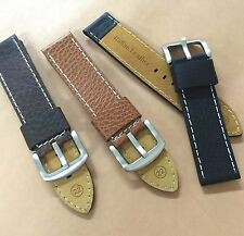 Size18/20/22/24mm Cow Leather Watch Strap/Band Military Pilot Diver Watch  #048