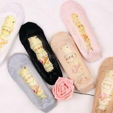 Women Lady Girls Low Cut No-Show Socks Antiskid Lace Boat-Type Foot Cover Peds