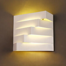 Modern New 2-Light White Metal Geometric Indoor Lighting Lamp Wall Light Fixture