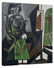 Woman by a Window by Pablo Picasso Stretch Canvas Wall Art Artinway Home Decor