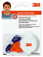 3M 90586-10DC Corded Reusable Earplugs, NRR 25DB