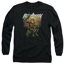AQUAMAN BEACH SUNSET Men's Long Sleeve Graphic Tee Shirt SM-2XL