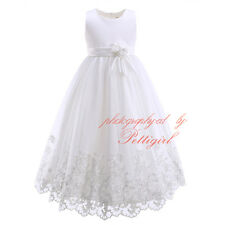 Flower Girls Dress Lace Recital Party Prom Birthday Wedding Bridesmaid Pageant