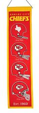 """Kansas City Chiefs Embroidered Wool Heritage 32"""" Banner Pennant"""