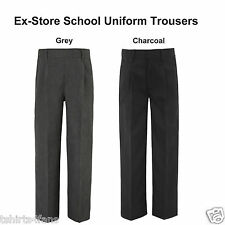 Ex-Store Boys School Trousers Pull Up Zip Up Trousers