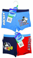 Boys Swim Trunks Boxer Style Disney Official Mickey Mouse Swimming 3 to 8 Years