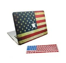 2-in-1 American Flag Matte Hard Case + American Flag Keyboard Cover for Macbook
