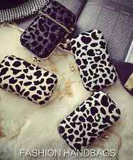 Fashion Women Leopard Print Evening Party Clutch Bag Wedding Purse Handbag