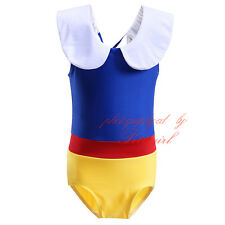 Baby Girls Snow White Princess Swimwear Swimming Set Swimsuit Fairy Tale Costume