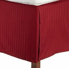 "1 Qty Bed Skirt Super Soft Egyptian Cotton 1000 TC Drop(15"") Burgundy Stripe"