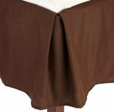 "1 Qty Bed Skirt Super Soft Egyptian Cotton 1000 TC Drop(15"") Chocolate Solid"