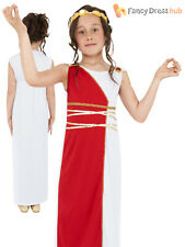 Childs Grecian Girl Costume Kid Athena Roman Greek Goddess Fancy Dress Book Week