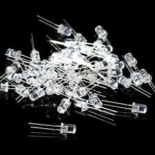 50PCS x 5mm Round LED Superbright Light Water Clear 2pin Choose Color HM