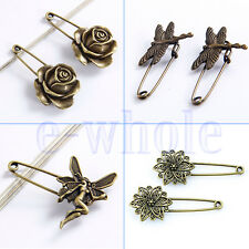 2 Rose/Fairy/Dragonfly/Floral Pattern Brooch Scarf Pin Wedding Bouquet Party HM