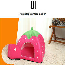 Strawberry Pet Bed Dog Cat Rabbit Bed House Kennel Doggy Warm Cushion Basket