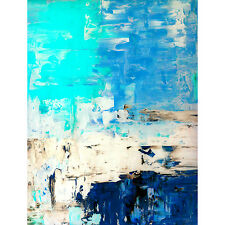 Framed Canvas Art Print Abstract Texture Blue Water Large Painting Artwork