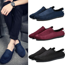 New Men's Suede Slip On Driving Moccasin Loafer Soft Loafer Casual Shoes Z88