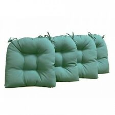 Blazing Needles 41cm Solid Indoor U-shaped Cushions (Set of 4). Delivery is Free