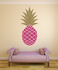 Pineapple Wall Decal, Pineapple Decor, Retro Wall Decal, Retro Wall Decor