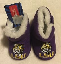 LSU Tigers Baby Booties Slippers - SIZE 1 - Purple - NCAA - NWT