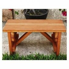 Best Redwood Backless Picnic Table Bench. Brand New
