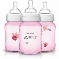 Philips AVENT Classic 270ml Bottle, , 3-Pack, BPA-Free (Choose Your Pattern). Sh
