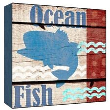 Green Leaf Art Ocean Fish Wall Art. Shipping Included