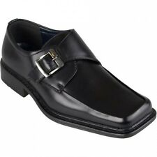 Daxx Mens Square Toe Buckle Detail Loafers. Shipping Included