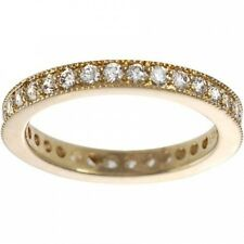 Alexandria Sterling Silver Gold Cubic Zirconia Vintage Eternity Ring. Best Price
