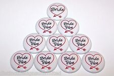 Bride Tribe Red Arrow Heart Pins Bachelorette Party Favors Pin Buttons - 10 Pack