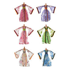 Dress for Barbies Classical Beautiful Chinese Ancient Dress Doll Toy 6 Colors 0C