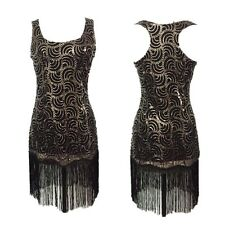 1920s Womens Flapper Vintage Fringe Sequin Tassel Evening Party Costume Dresses