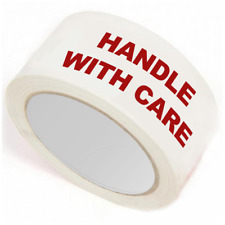 HANDLE WITH CARE PACKAGING PACKING PARCEL TAPE 50MM X 66M - SELECT QUANTITY