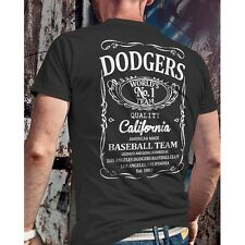 Los Angeles Dodgers Black / Royal Blue Drink Logo Graphic Tee Shirt - Graphic