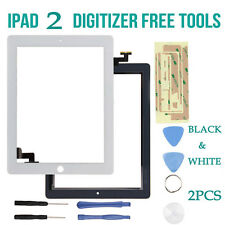 Digitizer Replacement Front Glass Touch Screen Lens for Apple iPad 2 Black/White