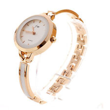 Women Fashion Elegant Dress Ladies Bracelet Stainless Steel Quartz Wrist Watch