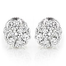 Luxurman 14k Gold 1/2ct TDW Diamond Cluster Stud Earrings (G-H, VS1-VS2). Best P