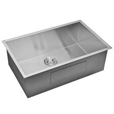 Water Creation Single Bowl Stainless Steel Hand Made Undermount Kitchen Sink. Be