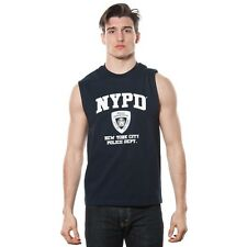 Men's NYPD Navy Muscle Shirt with White Chest Print. Brand New